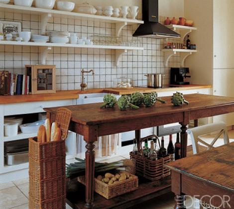 Cocina rústica de madera