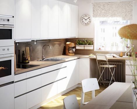 Encimeras de madera decoraci n - Cocina blanca encimera madera ...