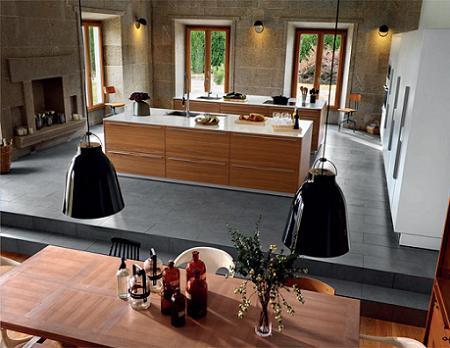 Cocina de madera de Santos