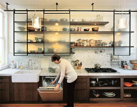 Muebles abiertos para la cocina