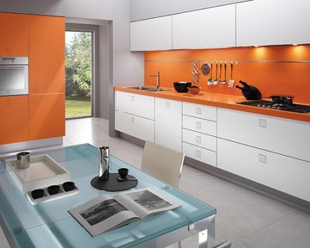 10 cocinas naranjas
