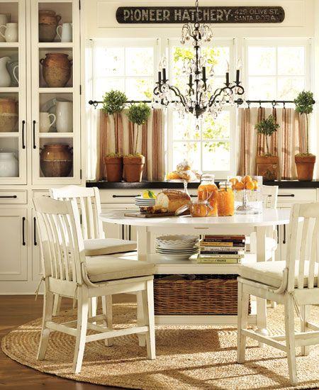 Cocina rústica blanca