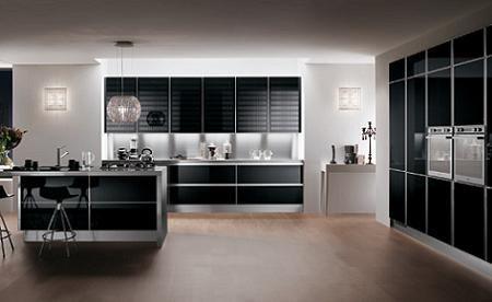 10 cocinas en color negro