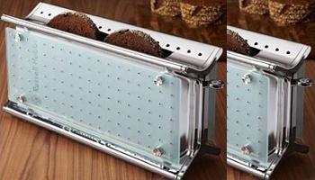 tostadora de diseño con cristales de Swarovsky