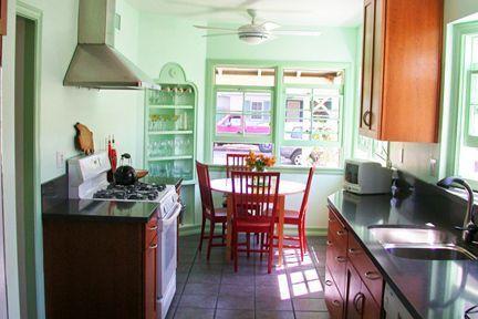 15 cocinas de color verde