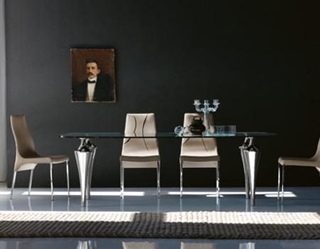 Mesa de comedor, de diseño, de la firma Cattelan Italia