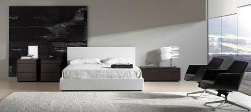 conjunto dormitorio en blanco y negro de Nueva Línea