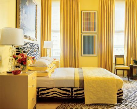 Amarillo dormitorio