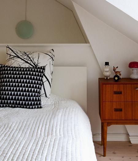 Dormitorio en un ático
