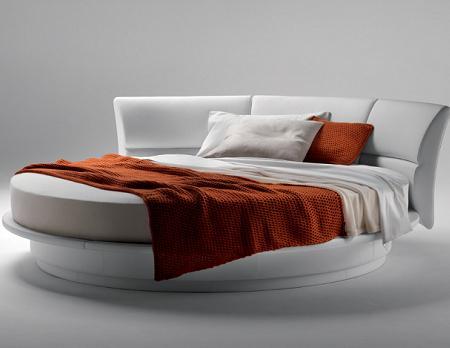 Una cama redonda