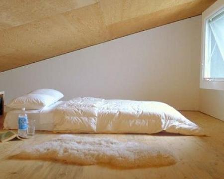 ¿La cama en el suelo?
