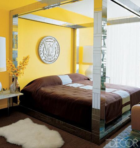 Dormitorio color amarillo
