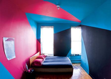 Dormitorio de colores