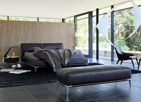 Dormitorios de cuero de Roche Bobois