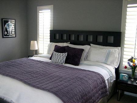 Dormitorio gris decoraci n for Dormitorios pintados en gris