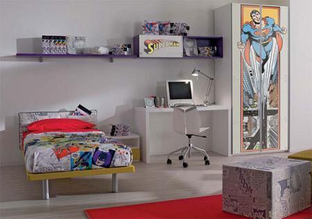 Dormitorio juvenil de Superman