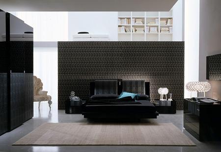 Dormitorio negro de diseño
