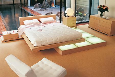 Dormitorio zen de Roche Bobois