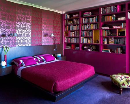 Dormitorios en morado