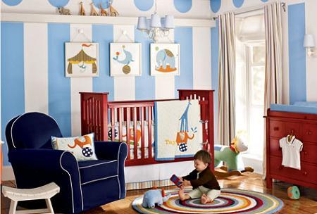 Habitación del bebé en azul