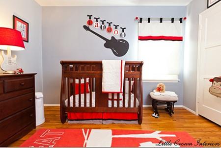 Habitación bebé rock