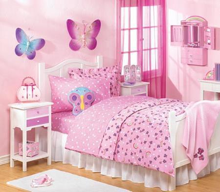 Habitación para niña en rosa