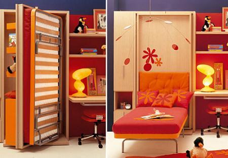 camas y escritorios plegables