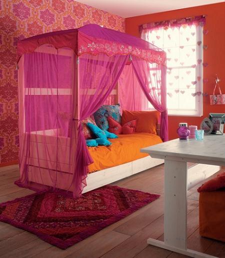Dormitorio tipo Princesa de inspiración oriental