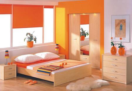 Naranja dormitorio