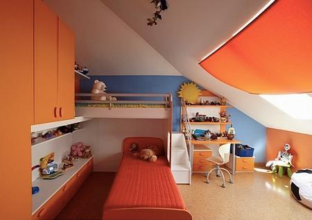 Pintar la habitacion infantil de naranja