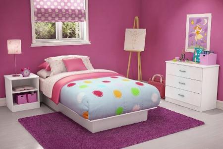 Pintar la habitacion infantil de rosa