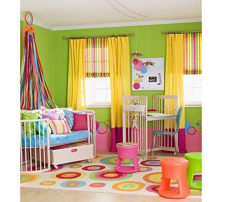Pintar la habitacion infantil de verde