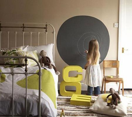 Pizarra en el dormitorio infantil