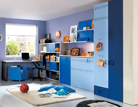 Dormitorio infantil de kibuc con cama abatible