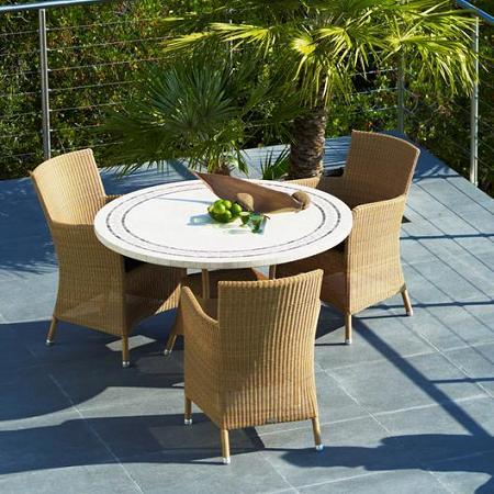 Comedor de jardín: mesas y sillas