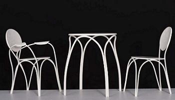 conjunto de mesa y sillas Rain de Moroso
