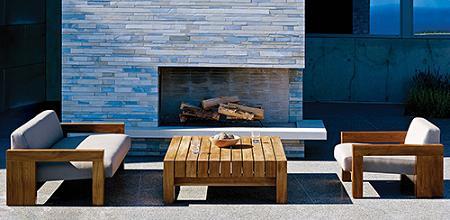 Muebles de teca para la terraza