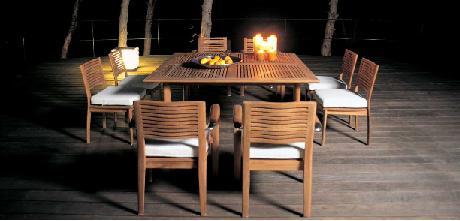 Comedor exterior, muebles para salir a cenar, colección Equinox de ...