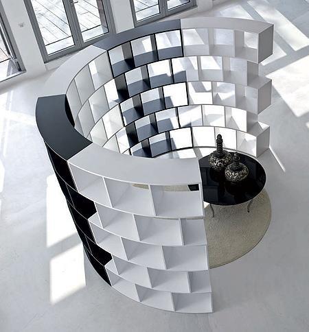 Estantería librería de diseño circular