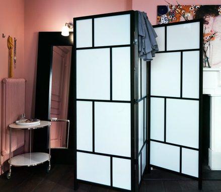 Biombos enconómicos de Ikea ideales para separar ambientes