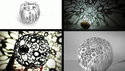 lampara de diseño que crea sombras