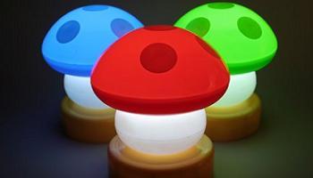 Lámpara seta Mario