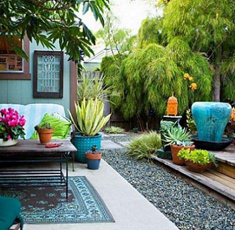 decorar un jardín moderno