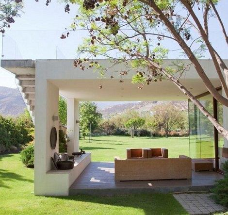porche integrado con terraza