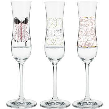 Copas de champagne, de Ritzenhoff, para brindar en Nochevieja