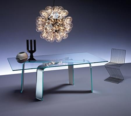 Mesas de cristal, muy sofisticadas