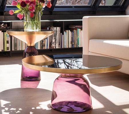 Mesas de cristal para el salón