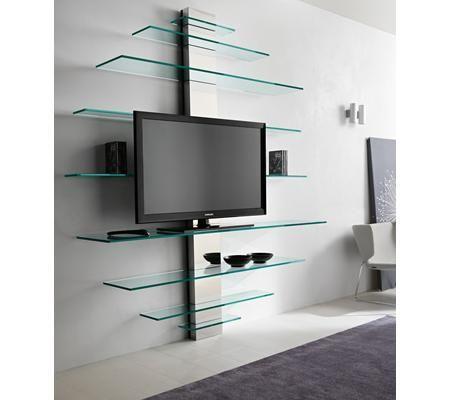Muebles TV cristal