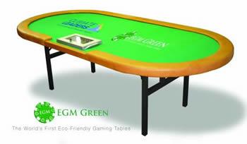mesa de póquer ecológica