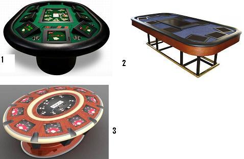 mesas de póquer electrónicas.